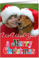 We Wish You a Merry Christmas Red Photocard card