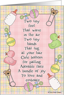Two Tiny Feet-Girl card