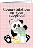 Adoption Panda-Girl card