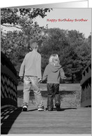 Holding Hands - Brother card