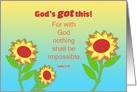 Get Well Feel Better Sunflowers and Bible Quote card