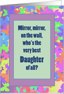 Daughter Congratulations Colorful Butterfly Frame with Mirror card