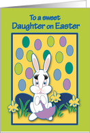 Daughter Easter Raining Jelly Beans Bunny card