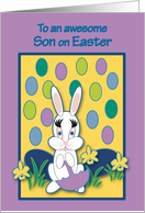 Son Easter Raining Jelly Beans Bunny card