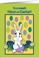 Niece Easter Raining Jelly Beans Bunny card