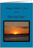 Boyfriend-Father's Day-Beautiful Golden Summer Sunset card