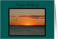Co-Worker Birthday Beautiful Golden Summer Sunset card