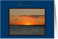 Missing You Beautiful Golden Summer Sunset card