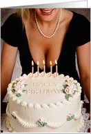 Happy Birthday Large Breasted Woman card