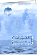44th Wedding Anniversay, Blue Moon Theme, general, water scene card