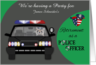 Invitations, Retirement Party, Custom Name, Police Officer, , raccoon card