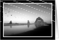 Morning at Haystack Rock card