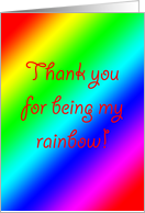 Thank You for Being My Rainbow card