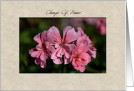 Change of Name - pink flowers card