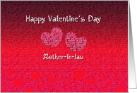Mother-in-law Happy Valentine's Day - Hearts card