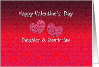 Daughter and Son-in-law Happy Valentine's Day - Hearts card