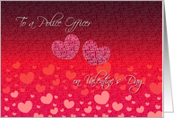 To A Police Officer On Valentine's Day- Red and Pink Hearts card