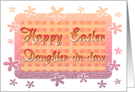 Daughter-in-law Happy Easter - Flowery Borders card