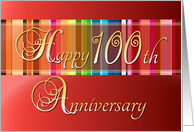 Happy 100th Anniversary - Colorful card