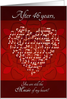 Music of My Heart After 46 Years - Heart card