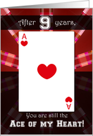 Ace of My Heart - 9th Anniversary card