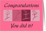 Congratulations Weight Loss and or Diet card