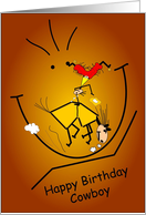 Happy Birthday Cowboy card
