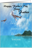 step father father's day Vintage Airplane card