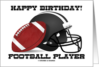 Happy Birthday! Football Player (Football Helmet) card