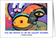 You Are Invited To An Art Gallery Showing (Graffiti On Wall) card