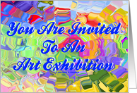 Colorful Ice Cubes Glass You Are Invited To An Art Exhibition card