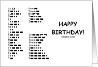 Happy Birthday International Morse Code Communication card
