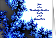 You Are Cordially Invited To An Art Reception (Fractals) card