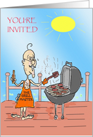 Your'E Invited To A Labor Day Bbq card