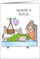 Maninhospitalbedwithbrokenbones-Nursesrocknursesday card