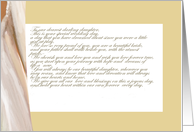 wedding gown letter of pride to daughter Wedding Day card