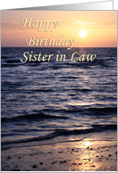 Sunset over Gulf ~ Happy Birthday Sister in Law card