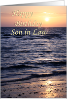 Sunset over Gulf ~ Happy Birthday Son in Law card