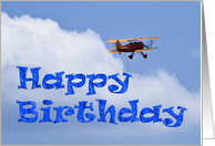 Bi-Plane Birthday card