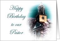Happy Birthday ~ Pastor card
