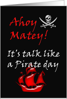 Talk like a Pirate ~ September 19 card