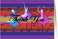 Thank You ~ Ballet Dancers ~Dance Teacher card