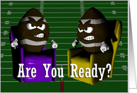 Are You Ready for a Football Party ~ Superbowl Invitation card