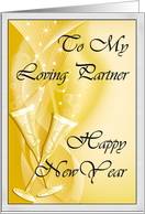 Happy New Year to Life Partner card