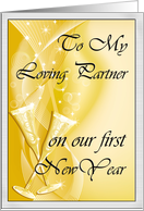 Happy First New Year to Life Partner card