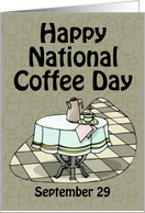 Happy National Coffee Day September 29 card