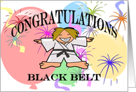 Congratulations Black Belt Karate card