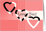 Hearts I Love You card