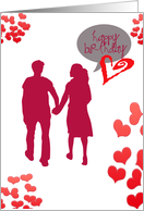 In love with you, Happy Birthday- girlfriend card