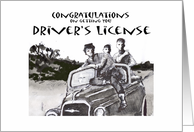 Congratulations on getting your Driver's license, Humour card